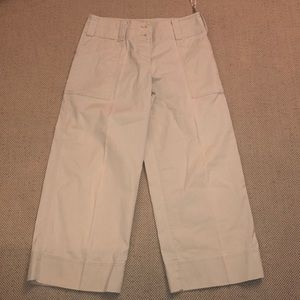 DKNY khaki wide leg capri pants
